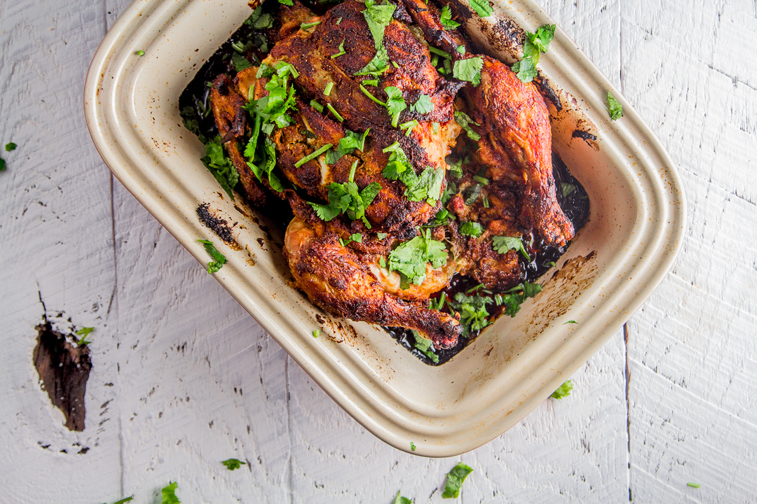 Whole roasted tandoori chicken easy quick