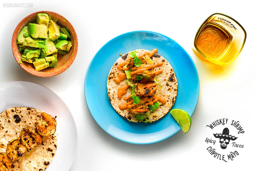 Jack-Daniels-Whisky-Shrimp-Spicy-Tacos-Indian_7_saynomaste_Pinterest