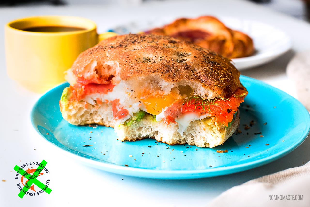 Breakfast-Sandwich-Sriracha-Salmon-Egg-Avocado-Focaccia_1b_nomaste