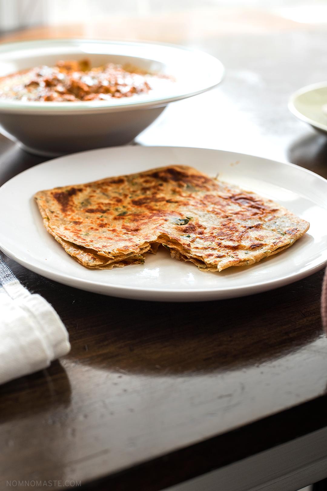 Flaky, rich and delicious—Haldiram Pudina Paratha