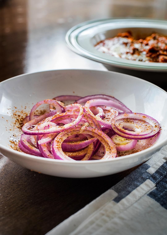 Onion salad with Chaat Masala