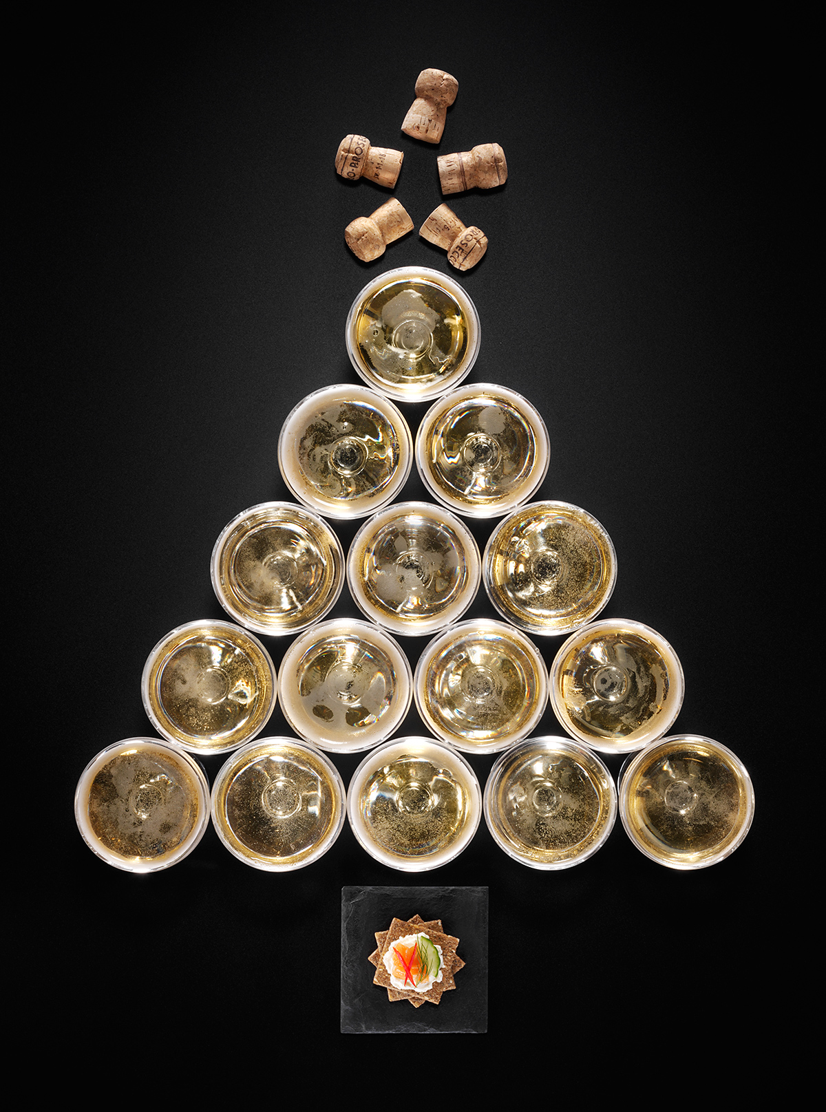 Champagne Christmas Tree