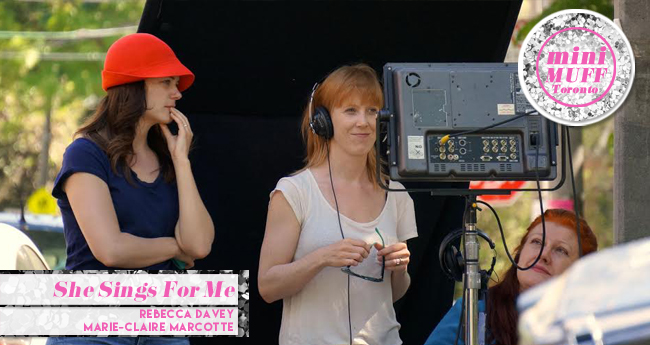 Director Rebecca Davey on set.