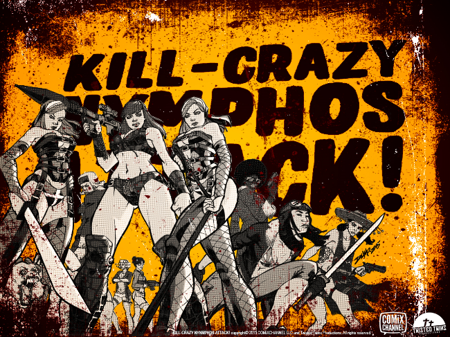 """Exclusive Artwork for """"Kill-Crazy Nymphs Attack,"""" drawn by Rob Dumo and colored by Dee Cunniffe."""
