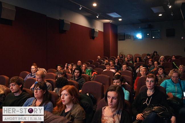 Eager audience waiting for the screenings to start | HER-STORY