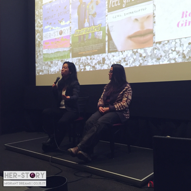 Migrant Dreams director, Min Sook Lee and producer Lisa Valencia-Svensson.