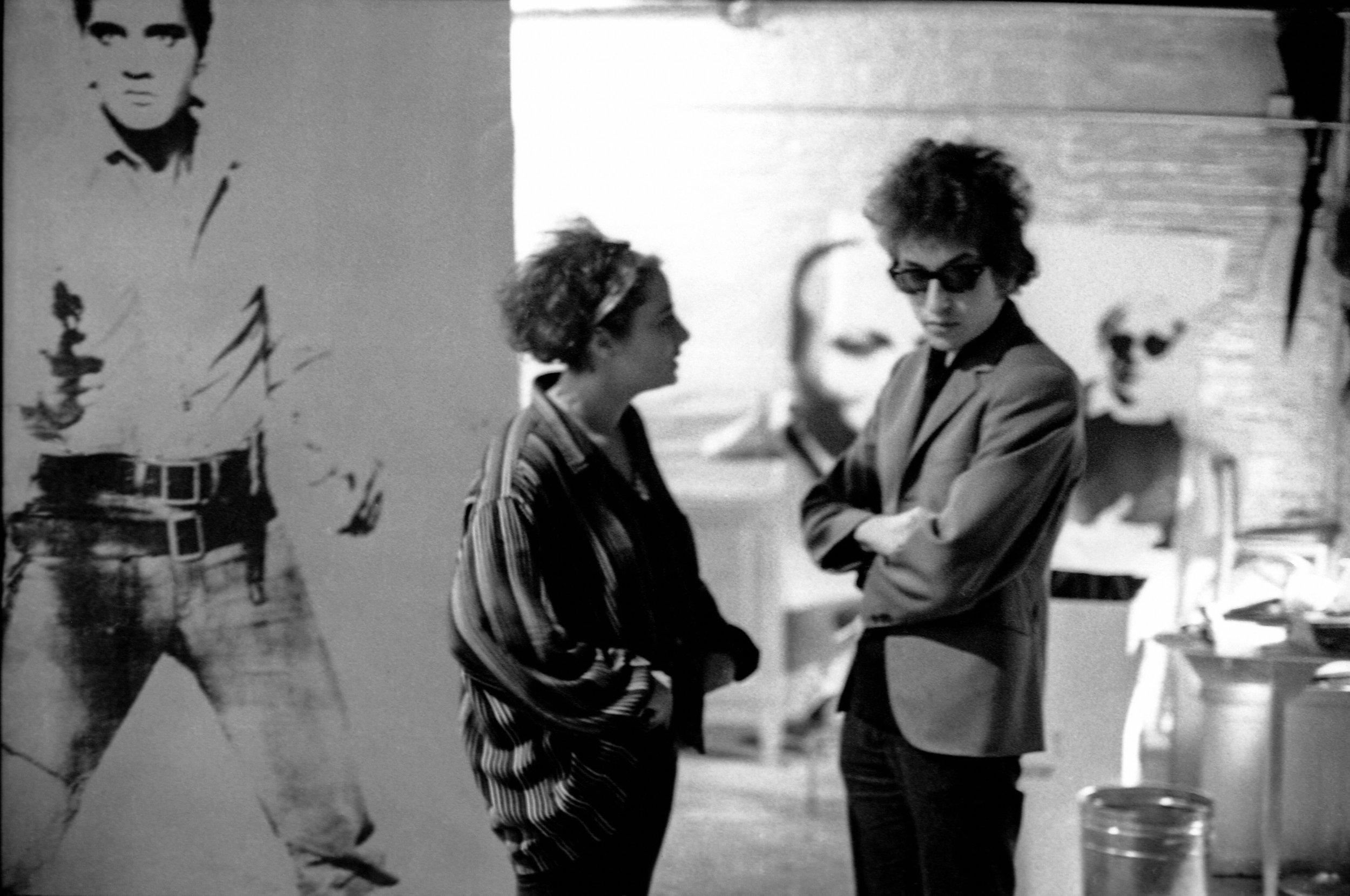 Barbara Rubin with Bob Dylan  Nat Finkelstein