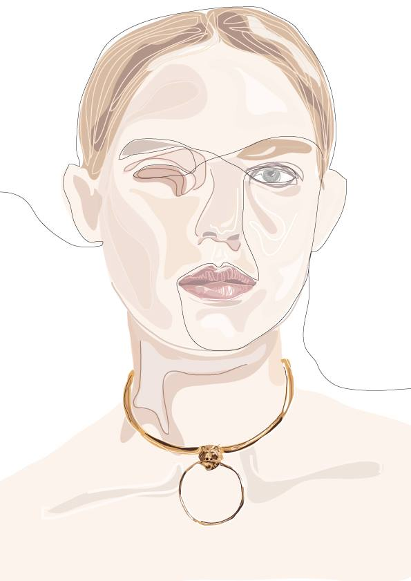 Drawing of Albrecht&Vera Jewelry by  Carina Ellen