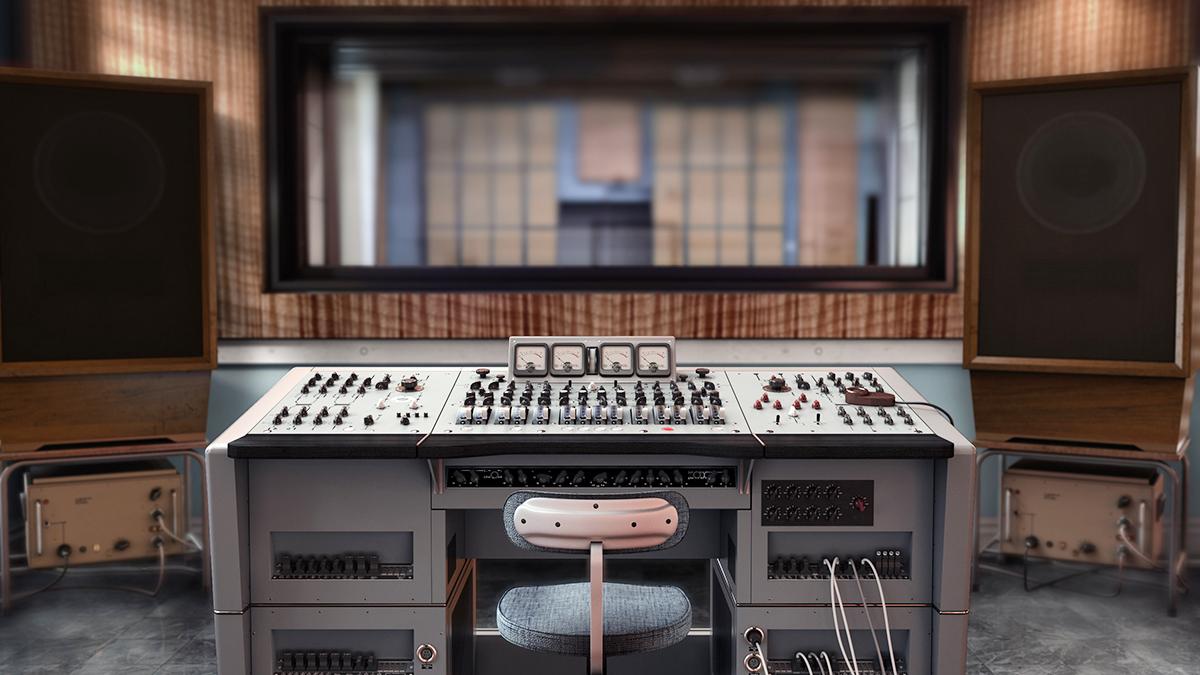 REDD.51 mixing console, Abbey Rd Studio #3 control room 1966
