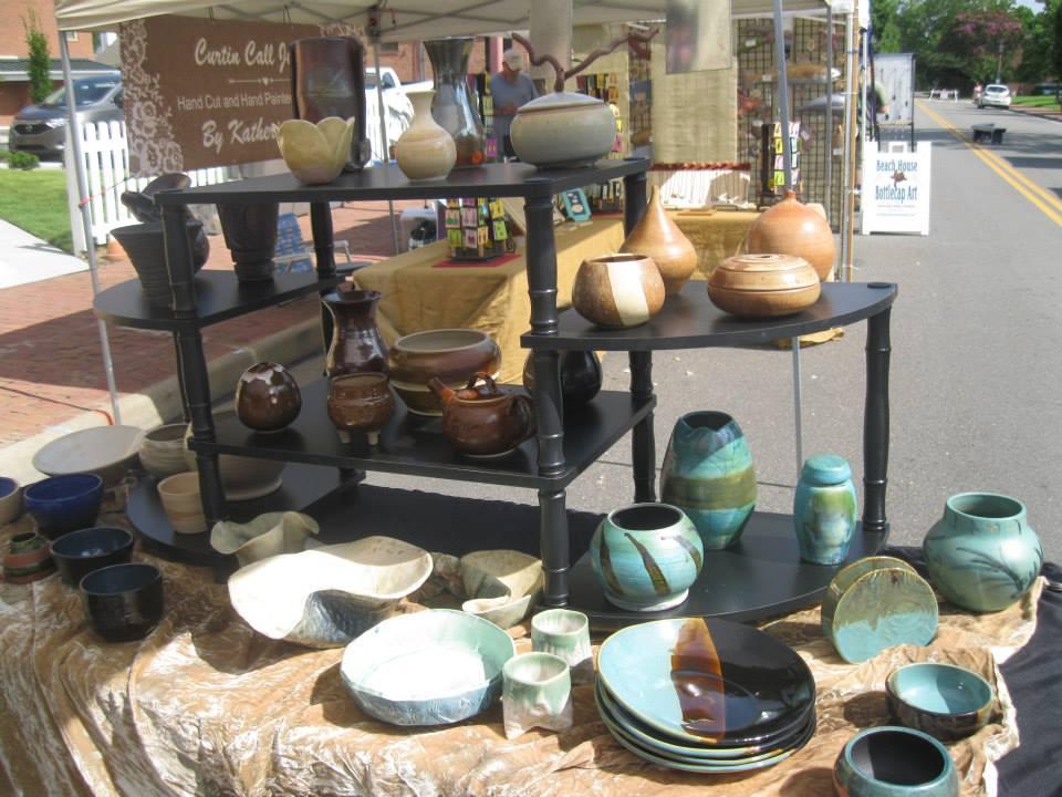 Cheri Snaza Pottery table July 2015.jpg