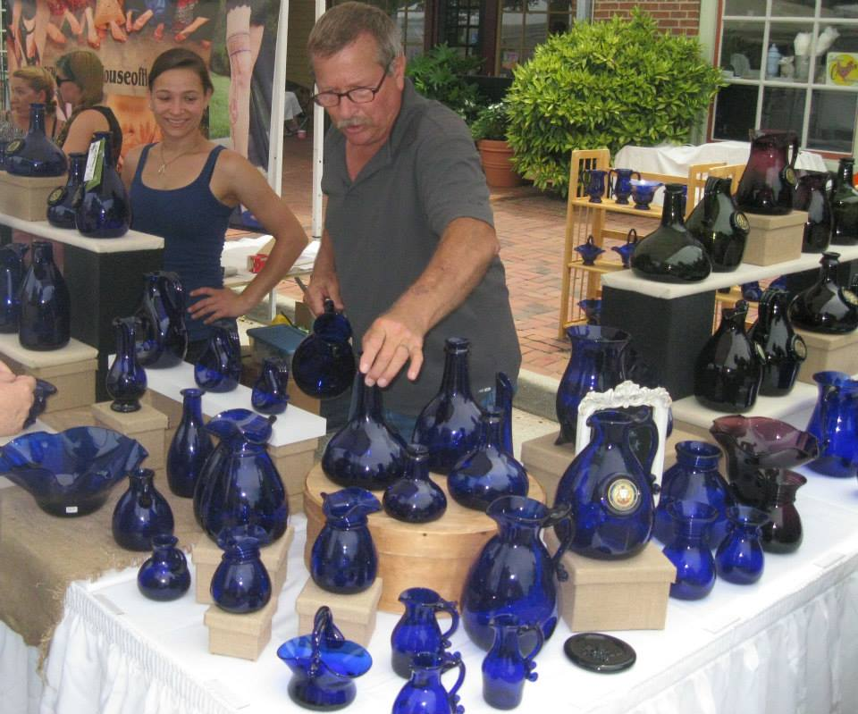 John & Brittany Shelton in Booth FULL of Glass at July 2015 2nd Sundays.jpg