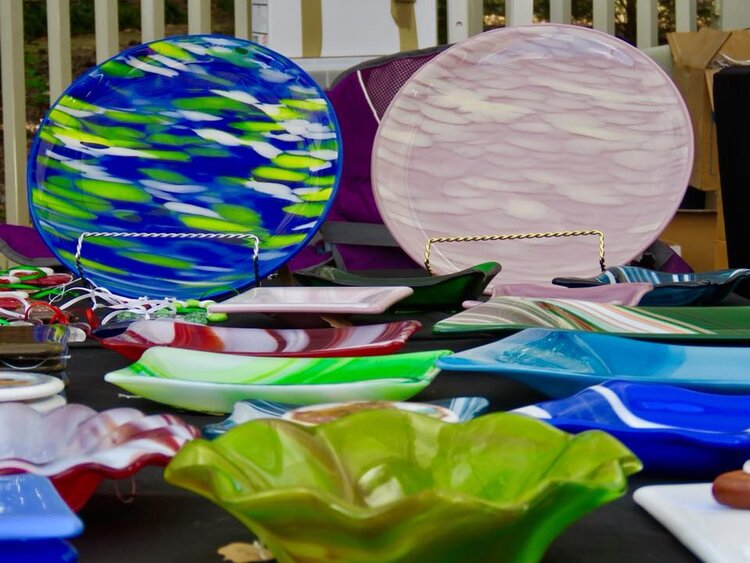 Darlene Colley Vibrant Glass Bowls Clseup.jpg