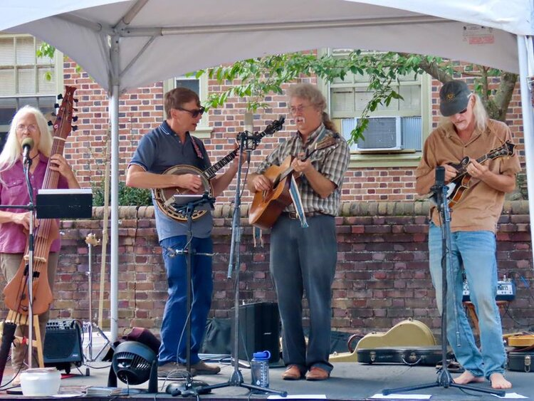 Runaway String Band Sept 2019 on stage at 2nd Sundays.jpg
