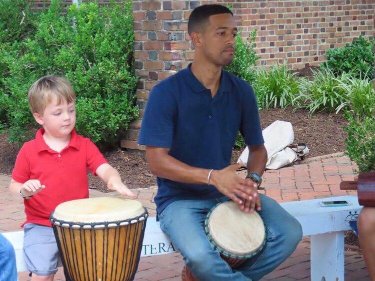Adam & little boy Drumming.jpg