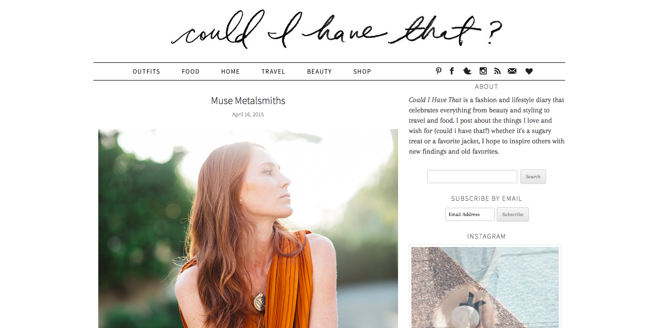 Featured on  Could I have that  blog.