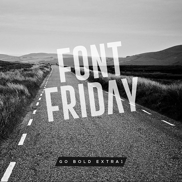 Font Friday! This sweet font is Go Bold Extra1. Look at that 'A'! #fontfriday . . . . . #goboldfont #graphicdesign #blackandwhite