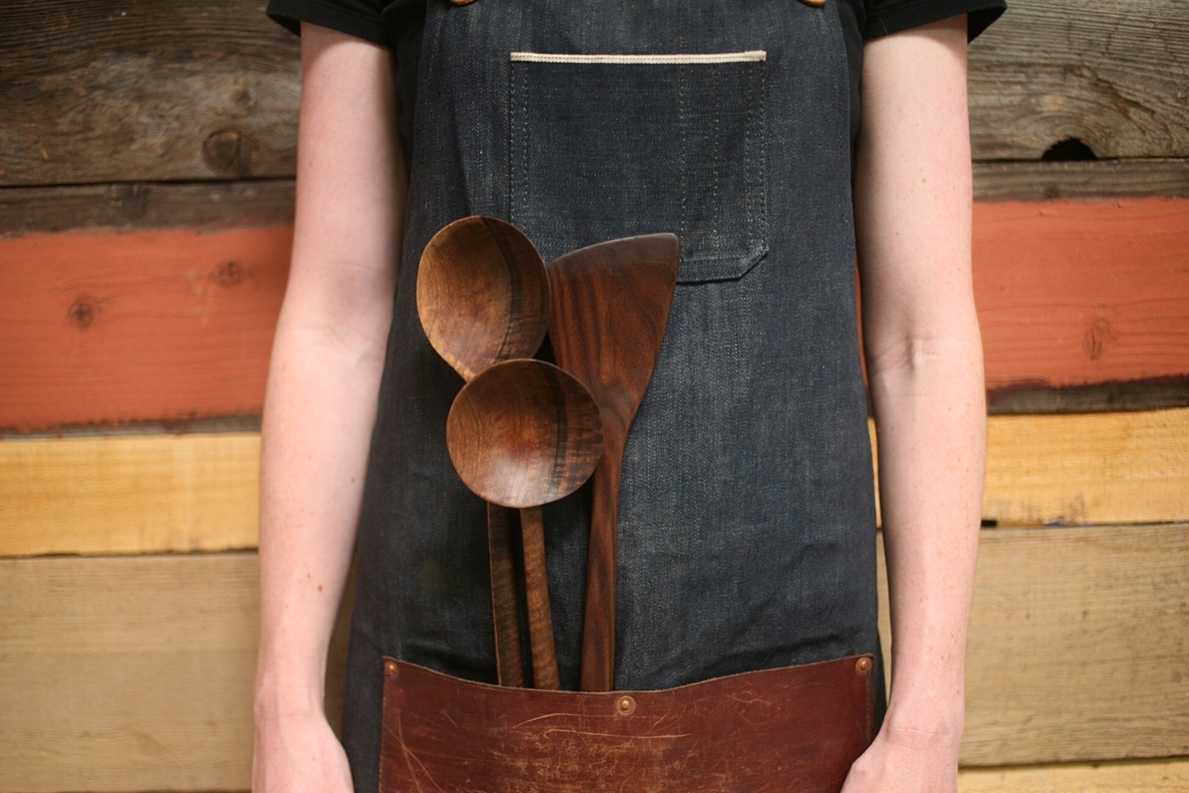 Hand carved kitchenwares.