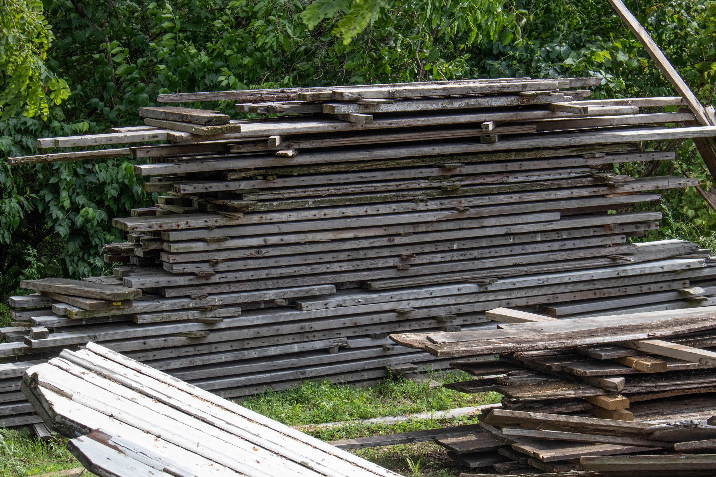 We sell reclaimed barn wood salvaged from old Indiana barns. Click on this photo for more inventory photos! Please contact us for more information on dimensions and pricing.