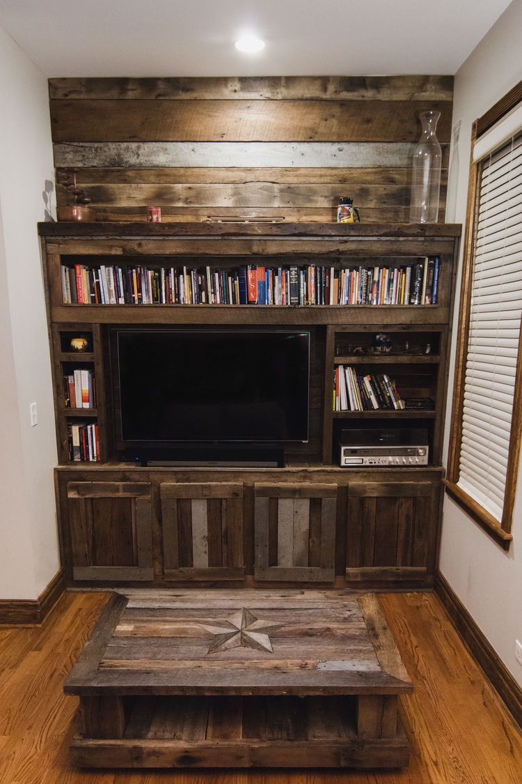 Rustic Indiana Built In Entertainment Center.jpg