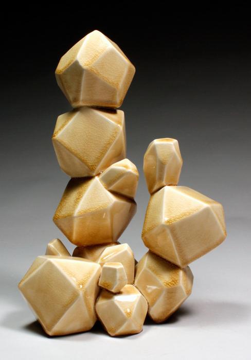 Vertical Bubble Array (Amber), 2014
