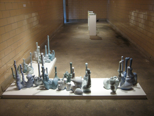 Cultivation in Blue, 2007. ceramic  dimensions variable