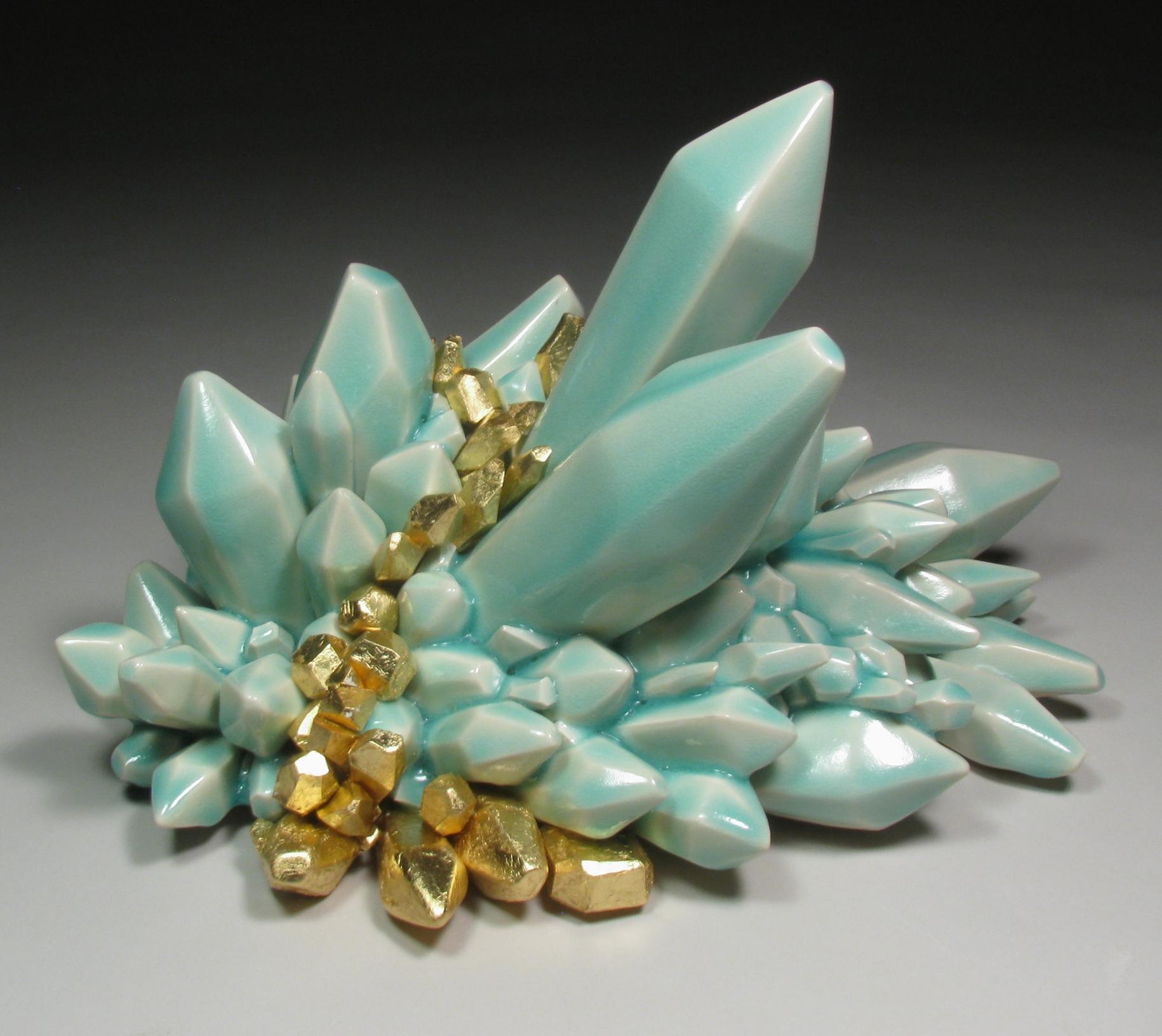 Metallic Vein (Turquoise), 2014