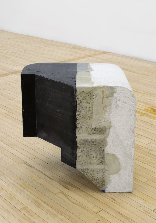 "Cadoma , 2014, concrete, foam, resin, and gravel, 21"" x 21"" x 24"""