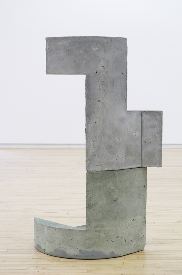 "Yna , 2016, concrete and foam, 45"" x 28"" x 12"""