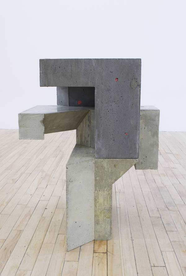 "Galomindt , 2016, concrete and foam, 32"" x 26"" x 23"""