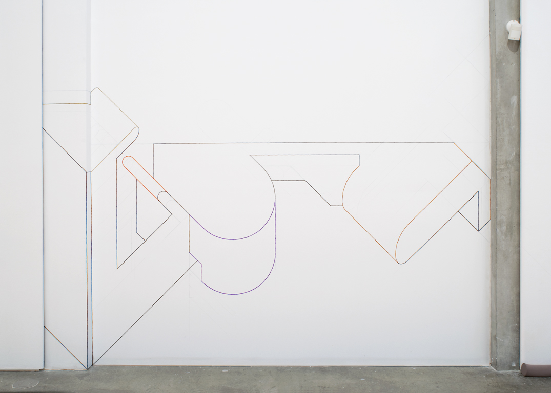 Untitled Drawing 55 , 2015, gouache, pencil, and correction fluid on wall, Kamloops Art Gallery, British Columbia