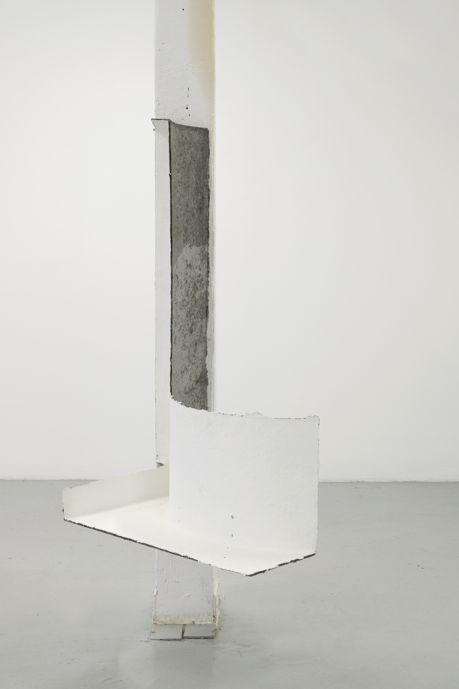 "Pfeen , 2017, papier maché, concrete, and gesso, 48"" x 21"" x 33"""