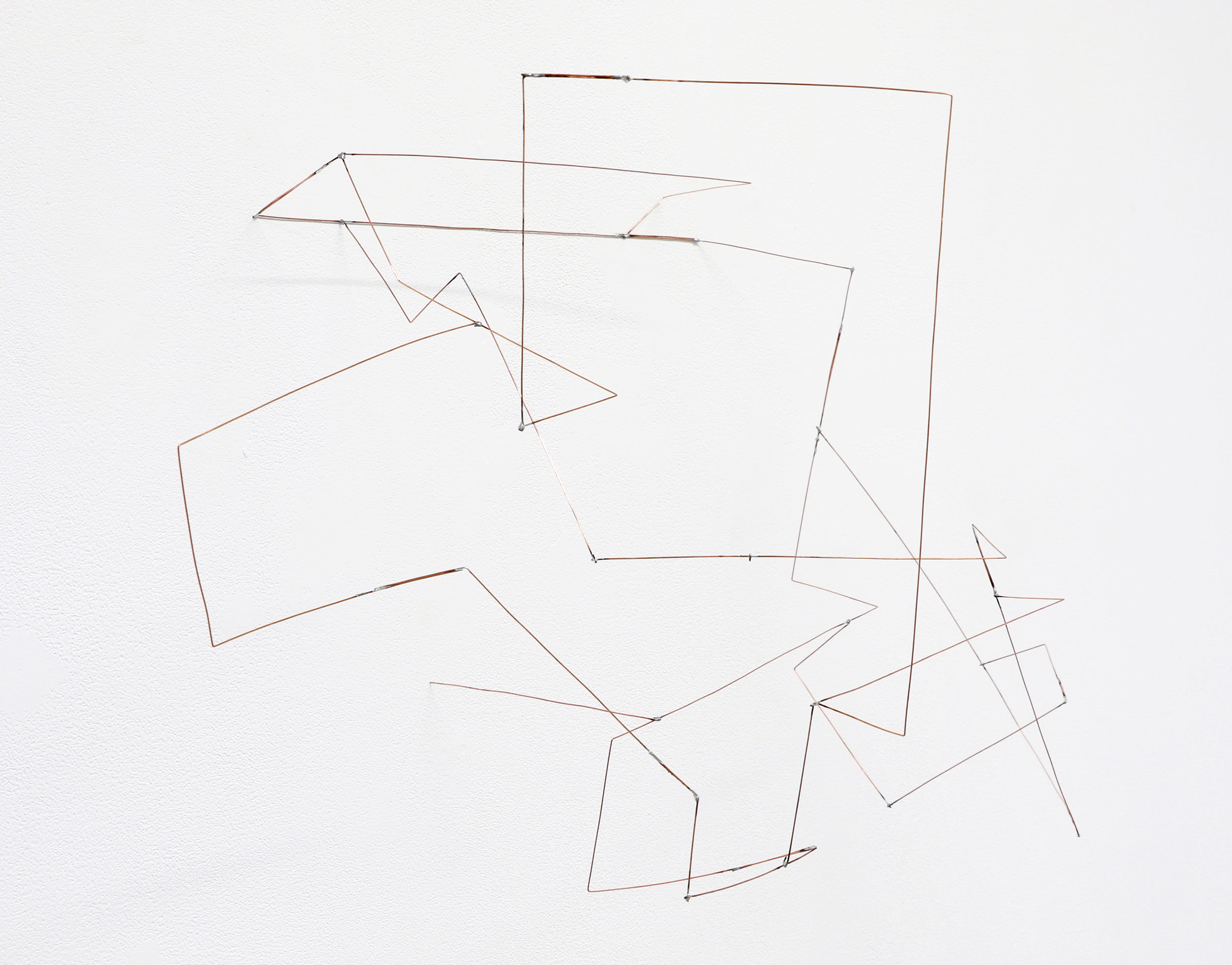"""Lômic , 2019, soldered copper-coated steel wire, 16"""" x 24"""" x 14"""""""