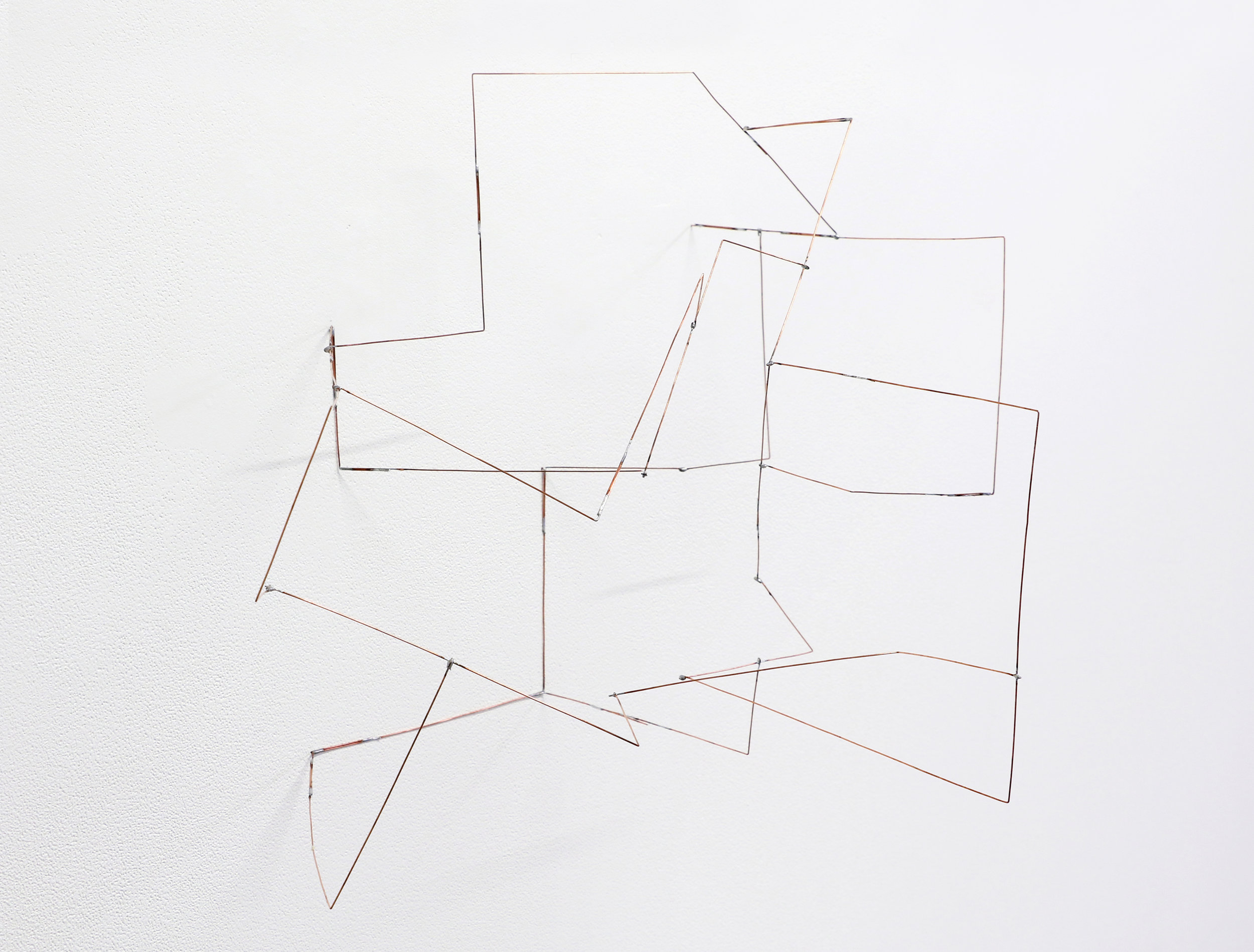"""Melling , 2019, soldered copper-coated steel wire, 14"""" x 22"""" x 14"""""""