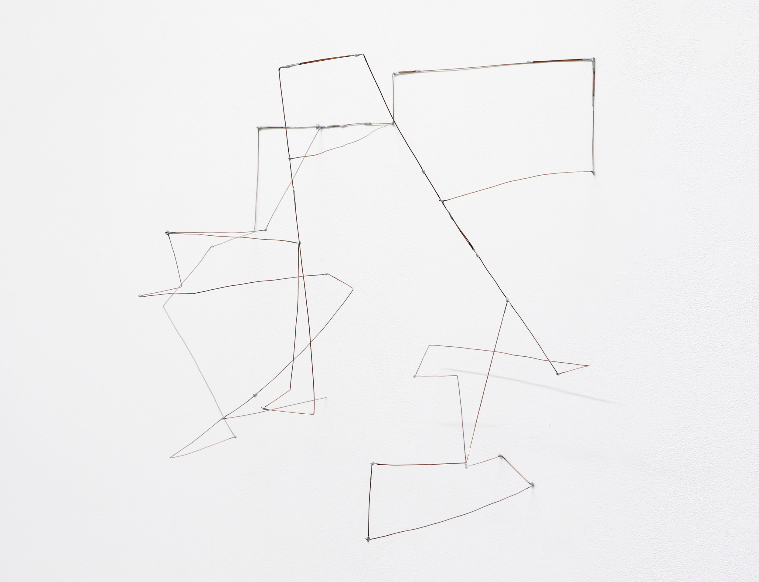 """Scielo , 2019, soldered copper-coated steel wire, 17"""" x 19"""" x 13"""""""