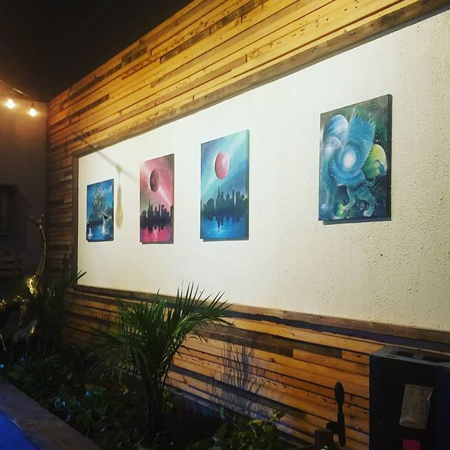 Lucid Paints Ryan Cook is the featured artist of October @foragerbrewery .... all of his pieces are created using spray paint❤😀 #spraypaintart #lucidpaints #foragerbrewery #mnartist #rochesterartist #rochmn #rochestermn #rochester_mn #mnartists #supportlocalart #supportthearts #localart #artistcollaborative #artscommunity #artexhibit #art