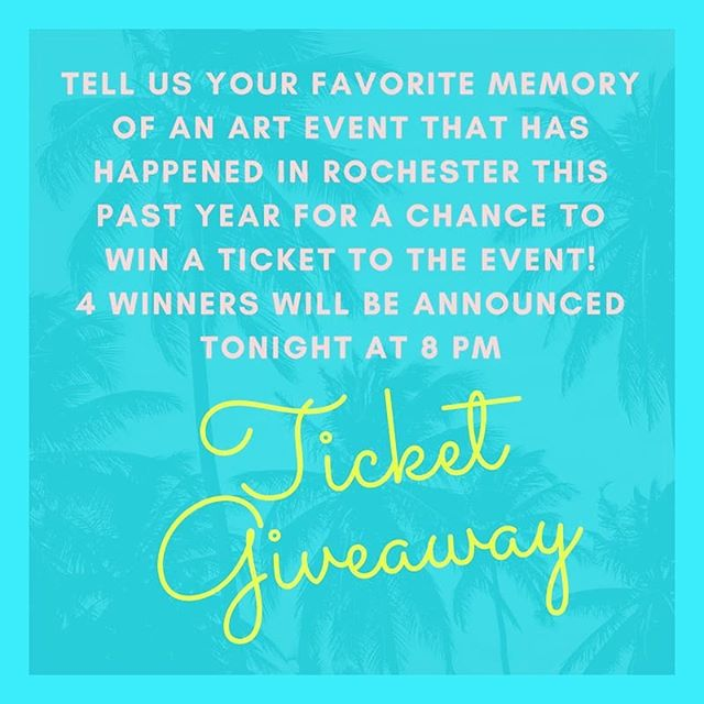 Ticket Giveaway! Share your favorite memory of an art event that has happened this past year. 4 winners will be announced at 8 pm. #gallery24 #rochester #rochmn #rochestermn #rochester_mn #mnartists #minnesota #art #artist #mnartist #rochesterartist #tryingtomakeadifference #silentauction #livemusic #liveart #nonprofit #supportlocalart #fundraiser #bringushome #favoritememory #foragerbrewery