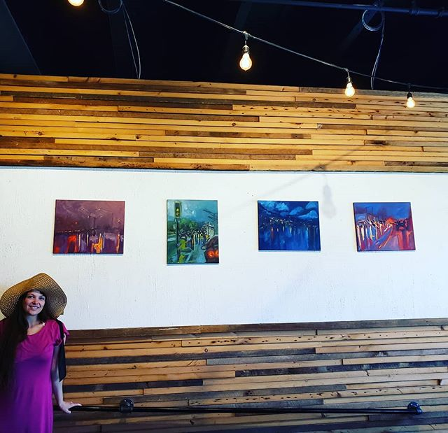 Yielding: Atmospheric Perspectives series by @ashtonhallartist is now up @foragerbrewery . Meet Ashton at the reception May 15th 5 PM at Forager  #mnartist #minnesota #artist #artistsofinstagram #artistsoninstagram #mnart #mnartists #curator #rochester_mn #minnesotaexposure #minnesotas_rochester #mn #rochmn #oilpainting #landscapepainting #atmosphere #ashtonhallartist #artistcollaborative #foragerbrewery #brewery
