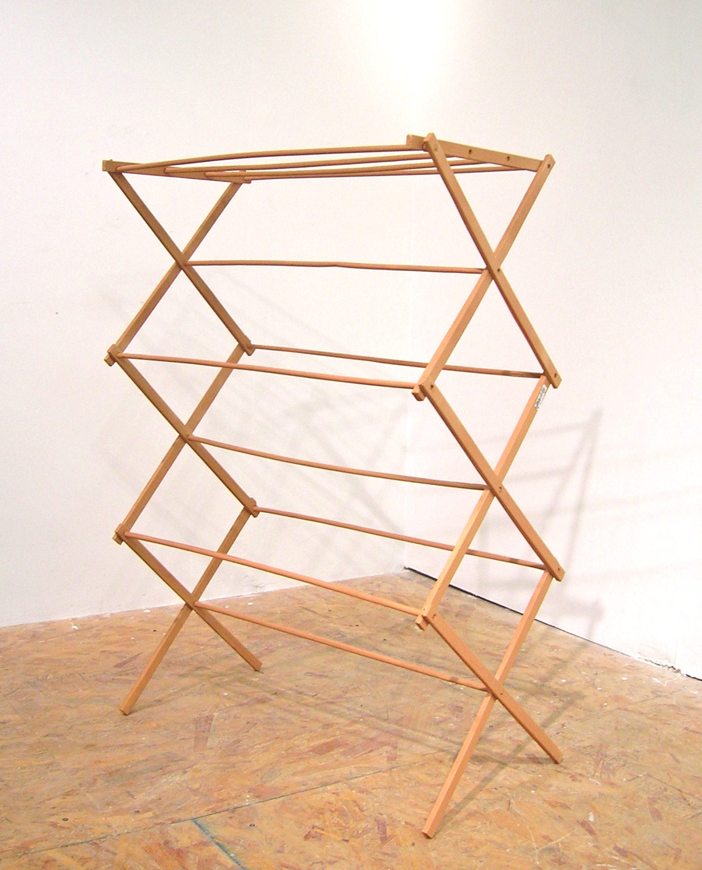 "Drying Rack, 2015, Acrylic on cast polyurethane, 48"" x 20"" x 38"""