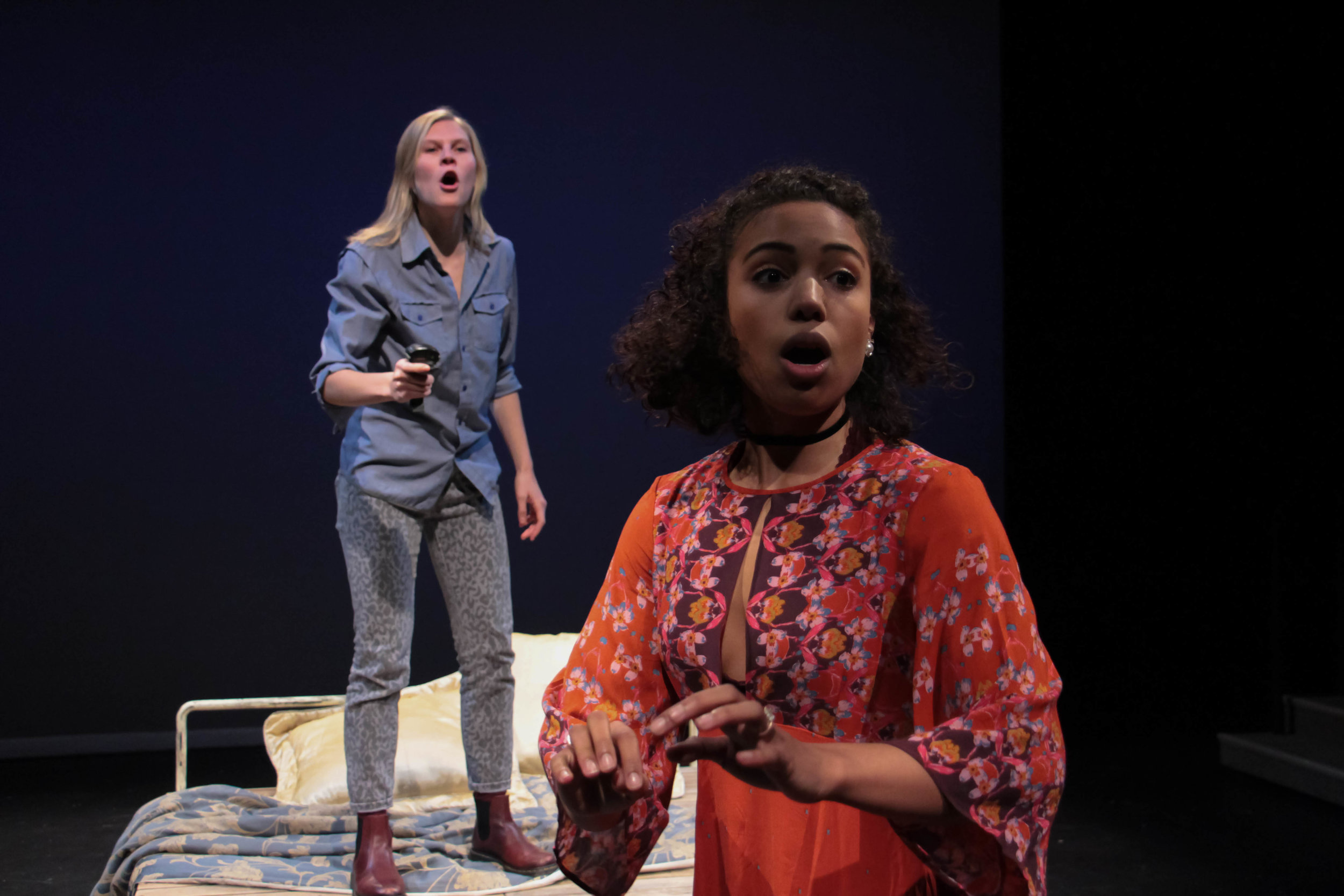 Anna Crivelli And Courtney Jamison In BLUEBEARD'S WIFE, 2016