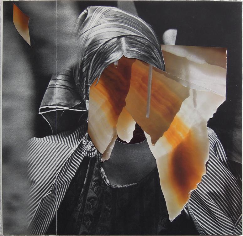 "Stalactite, 2014, Self-Portrait U.S.A. and Underground Worlds Magazine, 14"" x 14""."