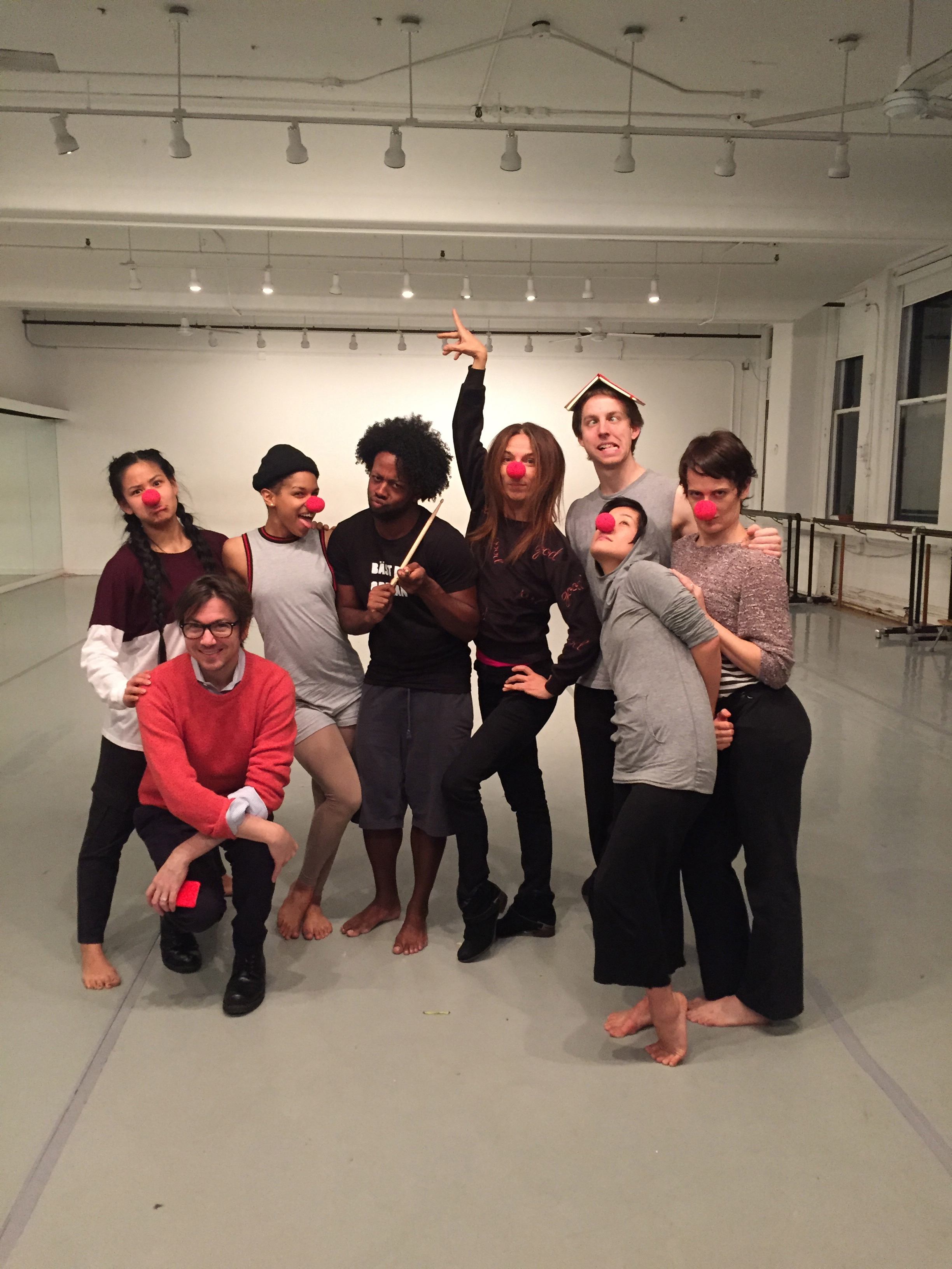 Bring in the clowns! Rehearsing with Gibney Dance Company
