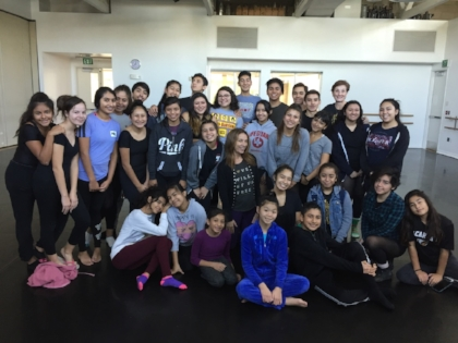 Rehearsal with the young dancers of The Wooden Floor