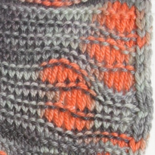 In this picture you can see the crazy pooling, as well as the dropped stitches sections that stack on top of one another.