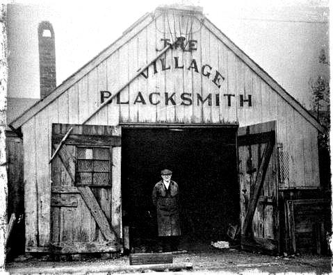 Blacksmith Paul Nossolik in the original shop.