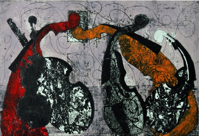 """""""violin"""" collagraph  (CC)  by  alitii"""