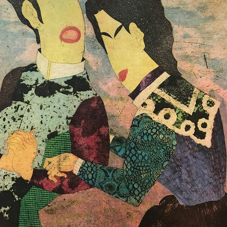 """Flirting Couple""  Yuji Hiratsuka"