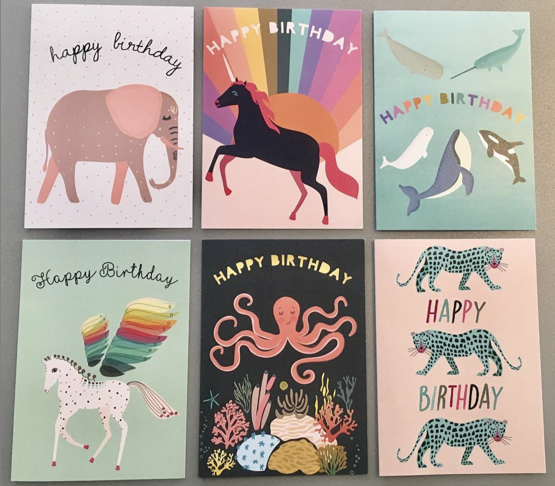 Just some of the greetings cards designs available.