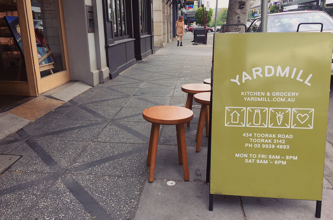 Yardmill Kitchen and Grocery High Tea Blog Review - sign