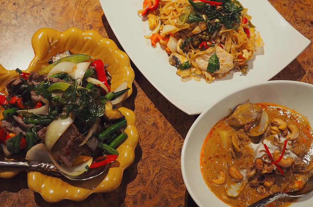 Palm Sugar Royal Thai Richmond Blog Review massaman curry pad ka pow drunken noodles