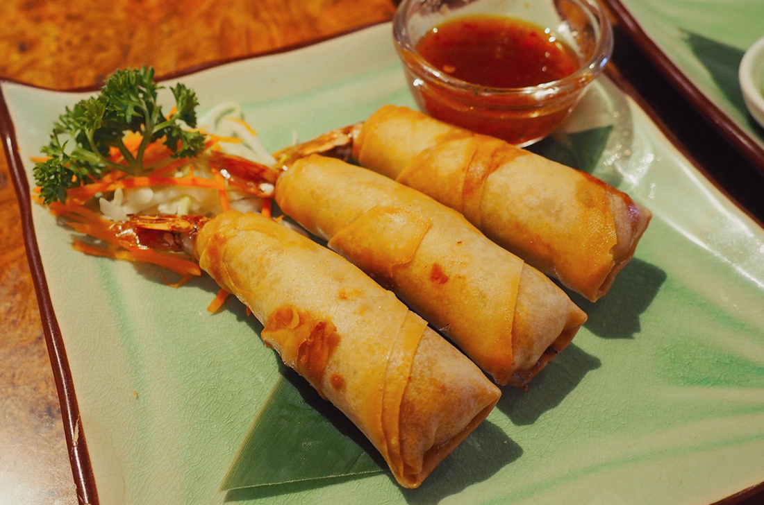 Palm Sugar Royal Thai Richmond Blog Review spring rolls goong hom pa